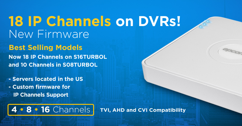 18 IP Channels on DVRs!